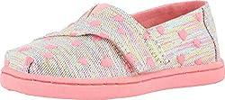in budget affordable TOMS Kids Girls Alpargata (Toddler / Toddler) Pink Multi Hershey Twill Mica 4 Toddler M.