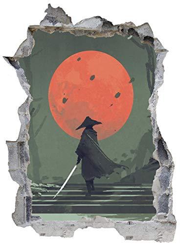 Asian Art Samurai Gaming Wandtattoo Wandsticker Wandaufkleber E0254 Größe 46 cm x 62 cm