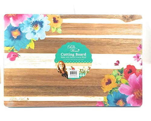 The Pioneer Woman Spring Floral Cutting Carving Board, 18' x 12'