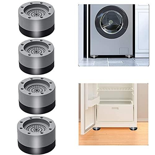 ammortizzatori in gomma per lavatrice,4 piedini lavatrice antiurto, piedini antiurto antiscivolo per lavatrice, utilizzabili per lavatrici, lavastoviglie, armadi, ecc. (grigio)