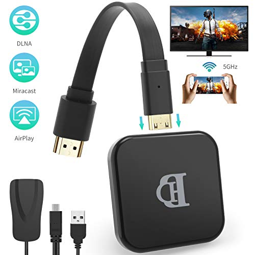 TedGem Dongle WiFi, Dongle WiFi HDMI, WiFi Display Dongle 1080P HD, Wireless WiFi Display Dongle Supporta Windows 8.1 /Android 4.2, Adattatore HDMI Wireless (5G+2.4G) (Nero)
