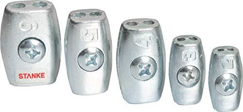 Seilwerk STANKE 10x Drahtseilklemme Eiform Größe 2 für 2 mm Drahtseile Aluminium Silumin Stahlseil Klemme