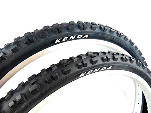 Pair of KENDA KINETICS K877 Front & K887 Rear MTB bike tyres, size 26 x 2.10, ETRTO 54-559