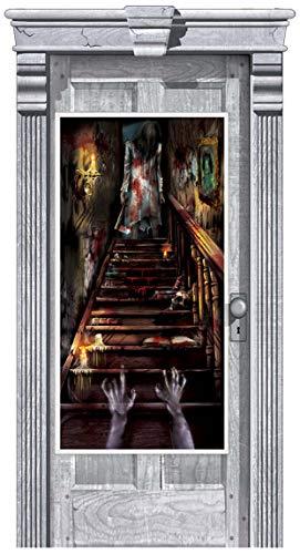 Amscan International 241151 1,65 m x 85 cm Maison hantée Stairway Kit Décorations de Porte