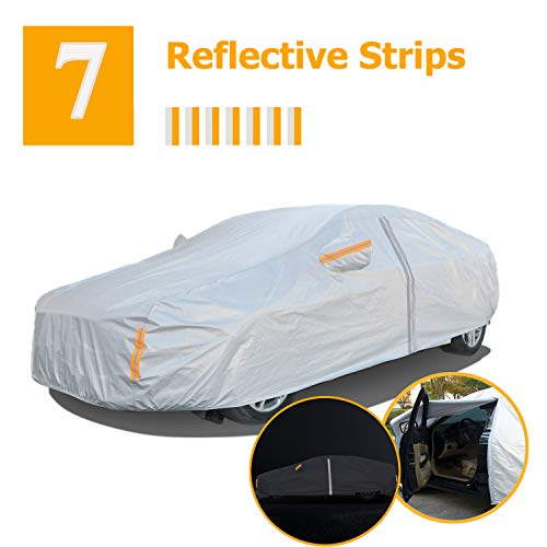NUOMAN Car Cover Waterproof All Weather for Automobiles,6 Layers Hail UV Snow Dust Outdoor Full...