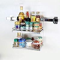 HTL 棚棚キッチンラックステンレスキッチンシェルフウォールマウント二層パンチ無料ストレージラック
