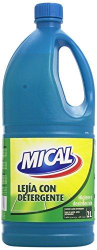 Mical - Lejía con detergente - Higiene y desinfección 2 litros - Pack de 6 (Total 12 litros)