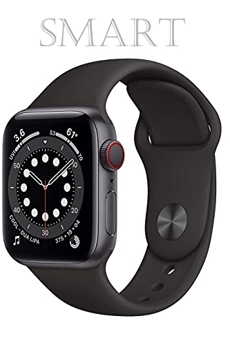 Smart: New Apple Watch Series 6 (GPS-Cellular, 44mm) - Space Gray Aluminum Case with Black Sport Band