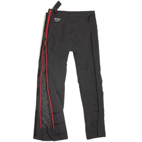 SPIDI Pantalones Impermeables de Motorista Superstorm H2Out, Negro/Azul, M