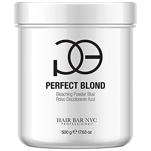 Perfect Blond Blue Lightener Powder 7 Levels of Lift - Extra Strength Professional Hair Dye Toner Lightener Bleach - Made in Italy 500g / 17.63oz
