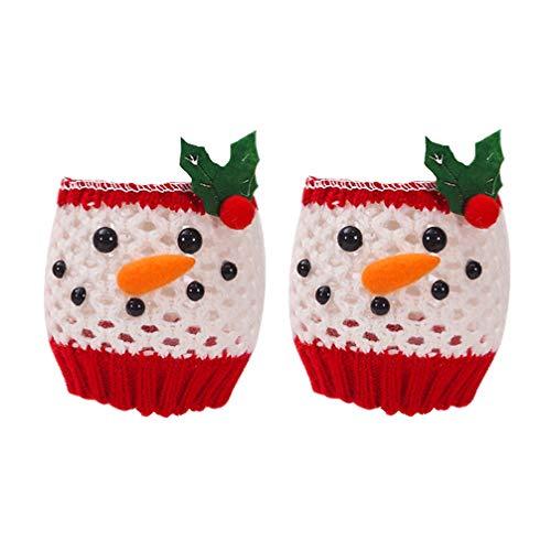 Healifty 2 Stück Weihnachten Weinglas Abdeckung festliche Schneemann Tasse deckt Flasche Dekore Weinflasche Fällen für Weihnachtsbankett Weihnachtsfeier