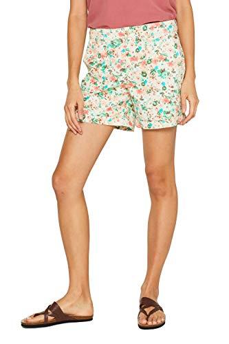 edc by ESPRIT Damen 999CC1C801 Shorts, Weiß (Off White 110), W(Herstellergröße: 32)