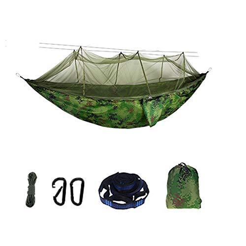 YSCYLY Hamac Suspendu avec Sac,260 * 140CM avec moustiquaire,Portable Hamac pour Le Camping, randonnée, Kayak et de Voyage