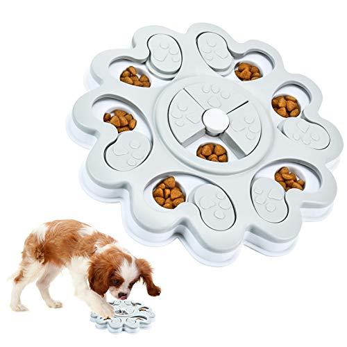 Juguete de Puzle para Perro, Juguetes Intelectuales de Comida para Perros, Dispensador de Premios Interactivo Rompecabezas para Perros, Dog Puzzle Feeder Comedero Lento para Perros y Gatos