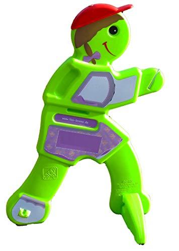UvV ROSI-Brems, Achtung 3D Aufsteller spielende Kinder für Spielstraßen, Kita, Spielplätze. Warnschild mit Reflexfolie (Mädchen Dirndl)