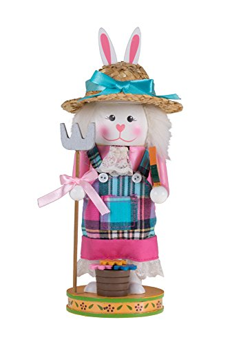 """Clever Creations Nussknacker, Holz, Pink/Blau, 3\"""" x 3\"""" x 9\"""""""