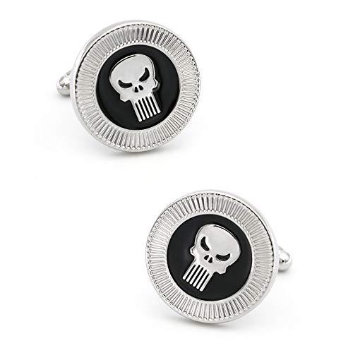 ABOO Design Punisher Manschettenknöpfe Messing Material Schwarz Manschettenknöpfe