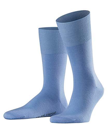 FALKE Herren Socken Airport - Merinowoll-/Baumwollmischung, 1 Paar, Blau (Bleue 6543), 43-44