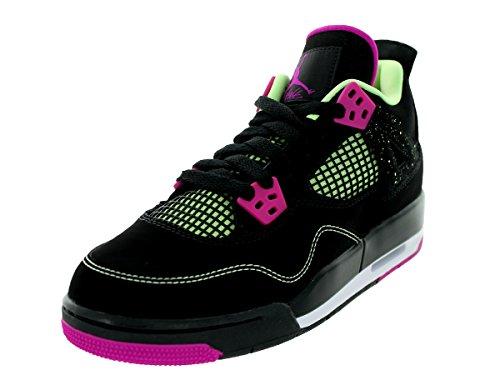 Nike Nike Mädchen Air Jordan 4 Retro 30Th GG Laufschuhe, Schwarz Rosa Weiß Schwarz Fuchsia Flash Lqd Lm Wht, 36 EU