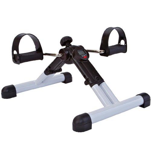 Tunturi Mini Cyclette Pieghevole da Poltrona, con Pedali Antiscivolo e Display