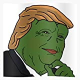 Sad Pepe Frog Trump Republican Meme President 2016 Impressive Posters for Room Decoration Printed with The Latest Modern Technology on semi-Glossy Paper Background