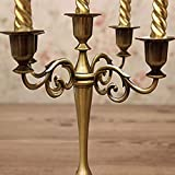 Queta Kerzenleuchter 5-armig Kerzenständer Candle Holder Kerzenhalter als Tischdeko für Weihnachten und Erntedankfest (Bronze) - 6
