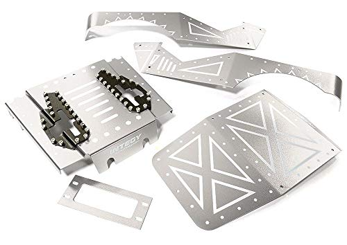 Integy RC Model Hop-ups C27671SILVER Aluminum Alloy Body Panel Kit for Axial 1/10 Wraith 2.2 Rock Racer