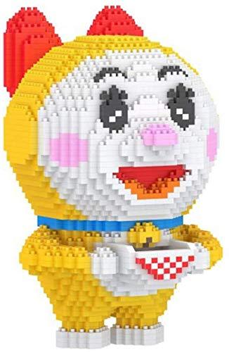 FJJF Blocs De Construction Gießen Enfants Mikroblöcke Mignons Gras Huang Nano 3D Puzzle Jouets Bricolage Modèle Jouet En Brique Cadeau D Jahrestag Adapté Aux Enfants