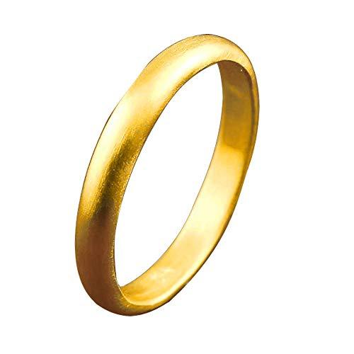 [アトラス]Atrus リング レディース 婚約指輪 純金 24金 ホーニング加工 つや消し 地金リング 1-10号 ストレート 甲丸 指輪 7号