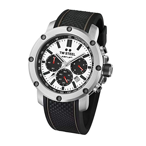 TW Steel Unisex Erwachsene Chronograph Quarz Uhr mit Silikon Armband TS9