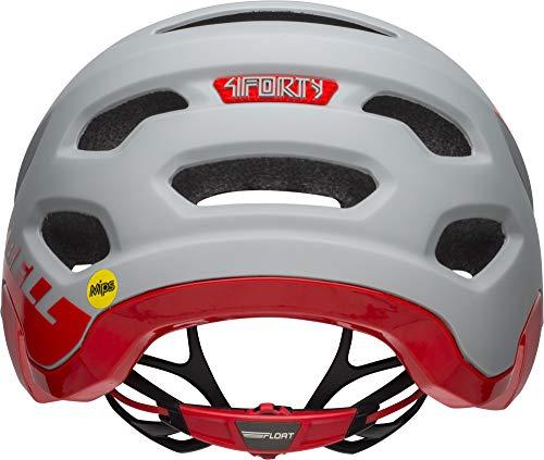 BELL Unisex's 4Forty MIPS MTB Helmet, Cliff-Hanger Matte/Gloss Grey/Crimson, Small/52-56 cm