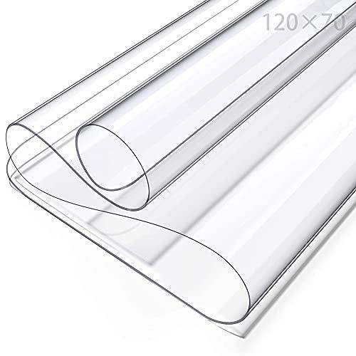 PVC Tischdecke Transparent,Tischfolie Schutzfolie,Schutztischdecke,Tischschutzfolie,Durchsichtig Schutztischdecke,Tischschutz,Glasklar Folie,PVC Folie Schutzfolie (Transparent/70cmX120cm)