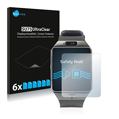Savvies 6X Schutzfolie kompatibel mit Simvalley Mobile PW-430.mp PX-4057 Bildschirmschutz-Folie Ultra-transparent