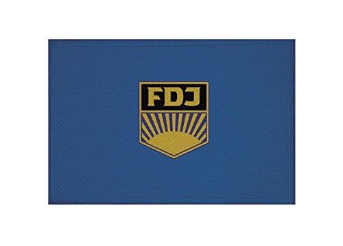 U24 Aufnäher DDR FDJ Fahne Flagge Aufbügler Patch 9 x 6 cm
