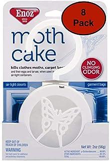 Enoz Moth Cake Pack of 8 Kills Clothes Moths, Carpet Beetles, and Eggs and Larvae