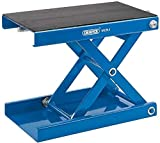 Scissor support stand suitable for use on the floor or on a motorcycle lift