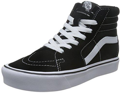 Vans Unisex-Erwachsene Sk8-hi Lite Hohe Sneaker, Schwarz (Suede/Canvas), 36 EU