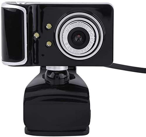 16M Bewinner USB Web Camera voor PC Computer, IP Camera voor Home Security, Indoor Camera Pixel HD Webcam Clip-on met 3 LED Lights Roteerbare Flexibele Ingebouwde Microfoon Zwart