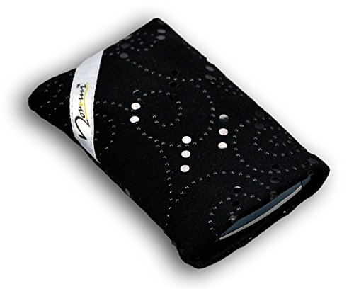 norrun Plaidis Handytasche aus Textil-Stoff maßgeschneidert mit Mikrofasereinlage, Strahlenschutz ersetzt die Tasche von Hersteller/Modell Doro Primo 401
