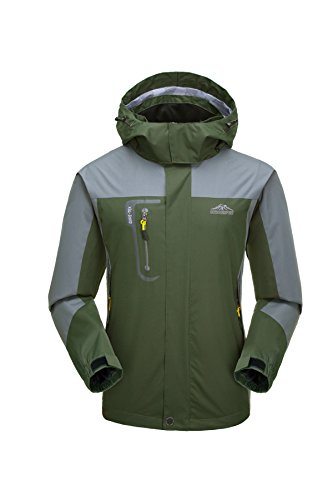 Rain Jacket, Men's Waterproof Jackets with Hood, Outdoor Raincoat, Windproof Softshell Jacket for...