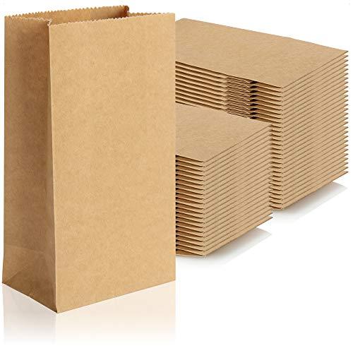 Robin Goods® 50x braune Papiertüte, Geschenktüten aus ungebleichtem Kraftpapier, Papiertaschen zum Verpacken und Verschenken von Party-Mitgebseln (braun - 16x9x5.5cm - 50 Stück)