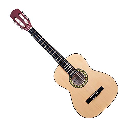 Classic Cantabile Acoustic Series AS-851-L Klassikgitarre 3/4 für Linkshänder (Kinder, Schüler, Einsteiger, 6 Saiten, Konzertgitarre, Akustikgitarre) natur