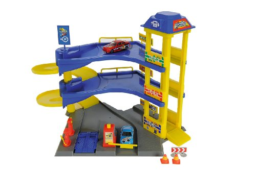 Dickie Toys - Parking Station - Parking 3 Etages + 2 Voitures (Import Royaume-uni)