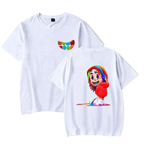 6IX9INE T Shirt Hip Hop Rapper SIXNINE 69 Camisetas Moda de Color Salvaje a Juego Nuevo Casual 6IX9INE Manga Corta Hombres y Mujeres