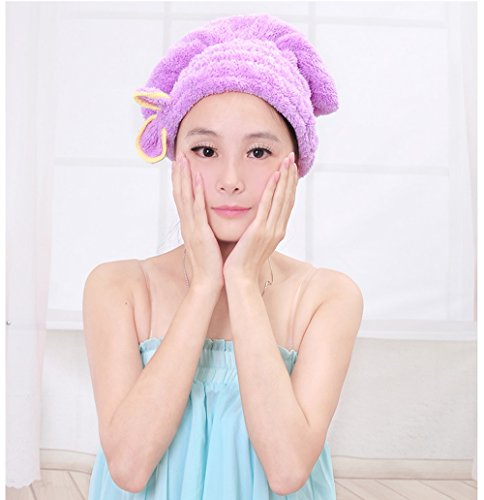 Bouchon de cheveux secs Superfine Fibre absorbant doux Serviette de bain Tête Wrap Nœud bonnets de douche