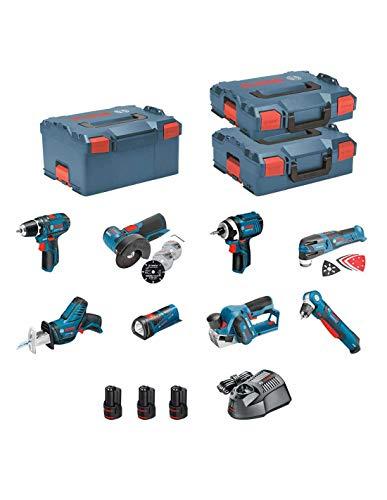 BOSCH Kit 12V BMK8-28ED3 (GSR 12V-15 + GDR 12V-105 + GWB 12V-10 + GWS 12V-76 + GOP 12V-28 + GSA 12V-14 + GLI 12V-80 + GHO 12V-20 + 3 x 2,0 Ah + GAL1230CV + L-Boxx 102 + L-Boxx 136 + L-Boxx 238