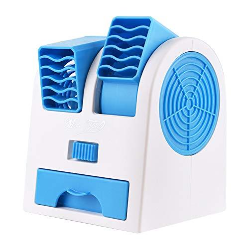 Innerset 3 en 1 ventilador de refrigeración de aire de doble puerto sin aspas, mini ventilador portátil de escritorio