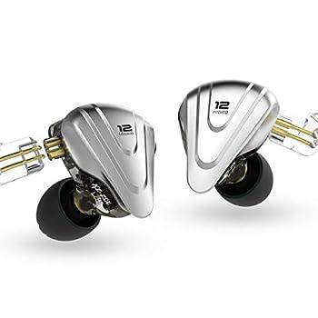 KZ ZSX Terminator Metal Headset 5BA+1DD Hybrid 12 Drivers HiFi Bass Earbuds in Ear Monitor Headphones Noise Cancelling Earphones with mic,Black