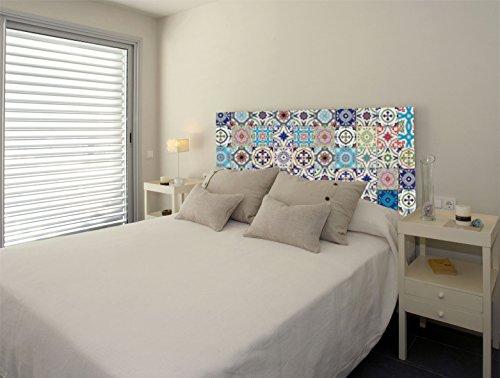 Walltoprint Cabecero de Cama, Impreso en PVC de 5 mm, diseño azulejo. Disponible en Varios tamaños. (100 x 60 cm, 60)