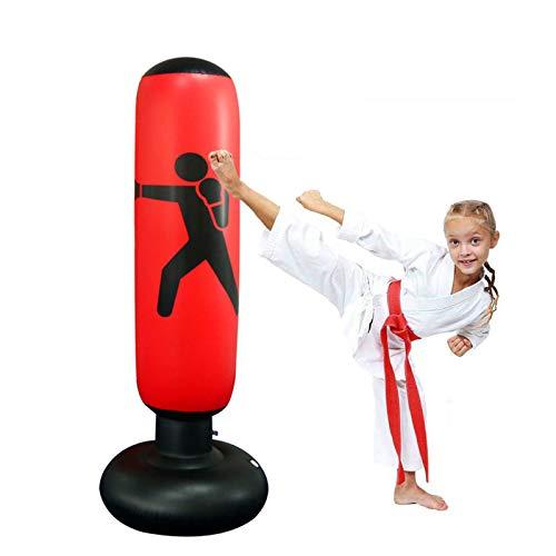 Sacos pesados de boxeo Bolsa de arena de punz/ón rojo Boxeo duradero Bolsa de perforaci/ón pesada con gancho de cadena de metal carabiner fitness entrenamiento gancho patada pelea karate taekwondo